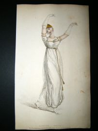 Ackermann 1809 Hand Col Regency Fashion Print. Dancing Dress 1-6